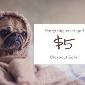 🛍$5 CLOSEOUT SALE🛍